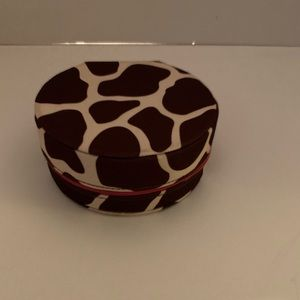Brown Cow Print Jewelry Box